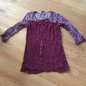 Dresses & Skirts - Maroon Printed Shift Dress